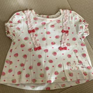 クーラクール(coeur a coeur)のクーラクール 苺柄Tシャツ80(Tシャツ)
