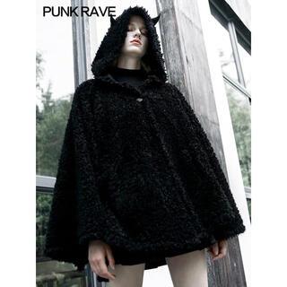 MILKBOY - punk rave コウモリ小悪魔 もこもこ 赤黒マントコート