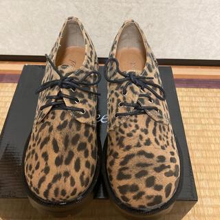ギャルスター(GALSTAR)のレオパード柄編み上げシューズ マニッシュシューズ(ローファー/革靴)
