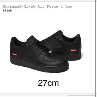 シュプリーム(Supreme)のsupreme nike air force 1 black 27cm us9 (スニーカー)