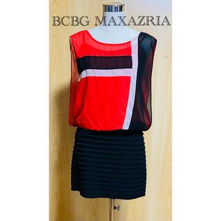 BCBGMAXAZRIA - BCBG MAXAZRIA・ミニワンピース・ツートーン