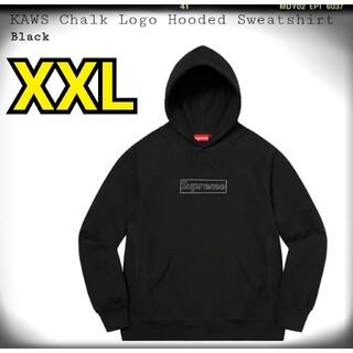 シュプリーム(Supreme)のKAWS Chalk Logo Hooded Sweatshirt 黒 XXL(パーカー)