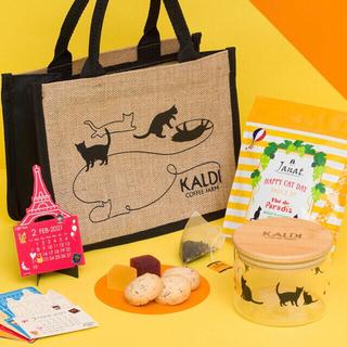 カルディ(KALDI)の【KALDI】ねこの日バッグ(クッキー・ジュレなし)(トートバッグ)