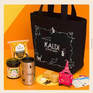 カルディ(KALDI)の新品・未開封 カルディ ネコの日バッグ プレミアム KALDI トートバッグ (菓子/デザート)