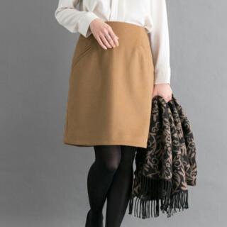 アーバンリサーチロッソ(URBAN RESEARCH ROSSO)のアーバンリサーチロッソ ビーバー台形スカート キャメル ブラウン(ひざ丈スカート)