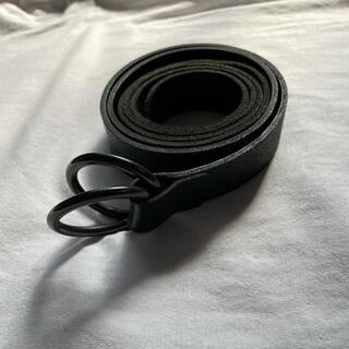 Yohji Yamamoto - S'YTE Cow Leather25mm Long Ring Belt