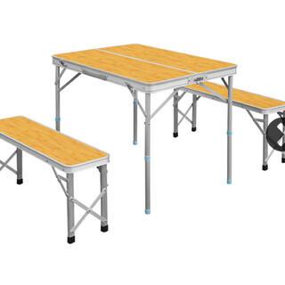 フィールドア(FIELDOOR)のFIELDOOR テーブルセット アウトドア キャンプ(テーブル/チェア)