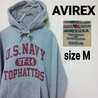 AVIREX - AVIREX アヴィレックス 3段プリント スウェットパーカー US NAVY