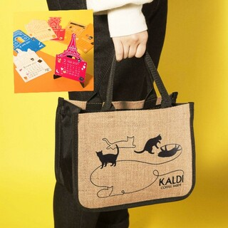 カルディ(KALDI)のカルディ KALDI ネコの日バッグ&カレンダーのみ 猫の日 (トートバッグ)