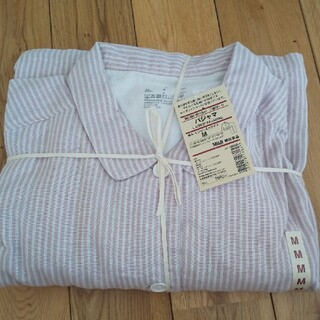 MUJI (無印良品) - 無印良品 MUJI 脇に縫い目のない 二重ガーゼ パジャマ
