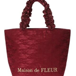 Maison de FLEUR - Maison de FLEUR レースフリルハンドルトートバッグ