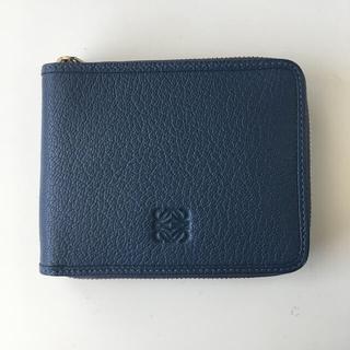 LOEWE - ロエベ 二つ折り財布 ネイビー