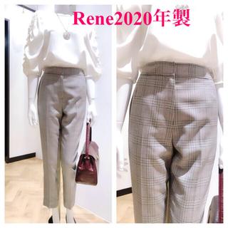 ルネ(René)のRene  ルネ✨【美品】 2020年製【グレンチェックパンツ34】(クロップドパンツ)