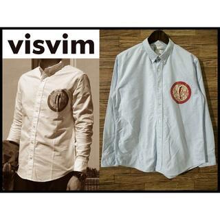 ヴィスヴィム(VISVIM)のvisvim ビズビム ギザ コットン サークルポケット BD シャツ 水色 L(シャツ)