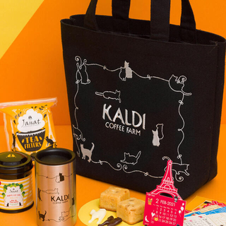 カルディ(KALDI)のカルディ 猫の日バッグ 2021 プレミアム トートバッグ 抜き取りなし!(トートバッグ)