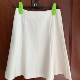 アミウ(AMIW)のAMIW アミウ フレアスカート  白スカート(ひざ丈スカート)
