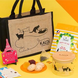 カルディ(KALDI)の【新品】カルディ ネコの日バッグ 2021 (トートバッグ)