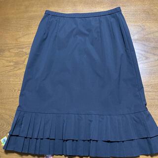 レリアン(leilian)のレリアン⭐︎黒色膝丈スカート 11号(ひざ丈スカート)