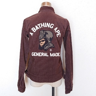 A BATHING APE - A BATHING APE GENERAL MADE コーデュロイジャケット