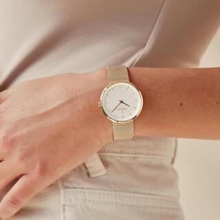 ダニエルウェリントン(Daniel Wellington)の【未使用】nordgreen infinity 腕時計 ゴールドメッシュ(腕時計)
