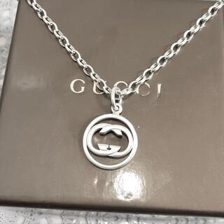 グッチ(Gucci)の正規品 グッチ ネックレス GG シルバー 丸 インターロッキング チェーン 6(ネックレス)