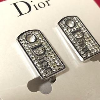 Dior - Dior ラインストーン ロゴイヤリング