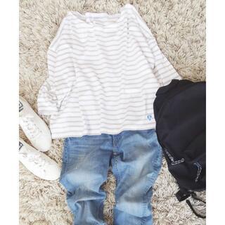 ORCIVAL -  ORCIVAL▼白×ベージュ▼八分袖ボートネックシャツ▼サイズ1