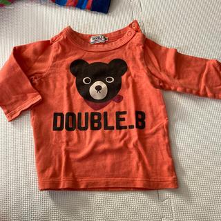 DOUBLE.B - くまのオレンジロングTシャツ