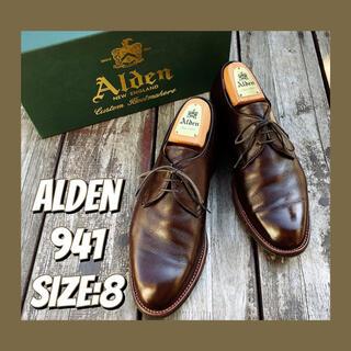 Alden - ■美品■オールデン/プレーントゥ/ストレート/キャップ/トゥ8/26/ALDEN