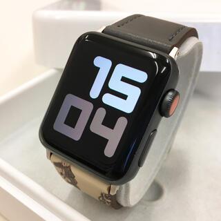 アップルウォッチ(Apple Watch)のアップルウォッチ series3 セルラー Apple Watch 38mm 黒(腕時計(デジタル))