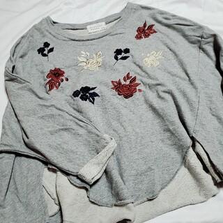 フラワー(flower)のUsed 刺繍 フラワー カットソー(カットソー(長袖/七分))