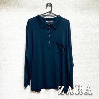 ZARA - ZARA ザラ オーバーサイズ ポロシャツ