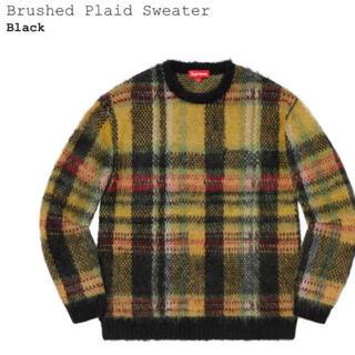 Supreme - 20AW Supreme Brushed Plaid Sweater  M
