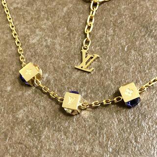 ルイヴィトン(LOUIS VUITTON)の正規品 ヴィトン ネックレス コリエ ギャンブル M65096 石 ゴールド 金(ネックレス)