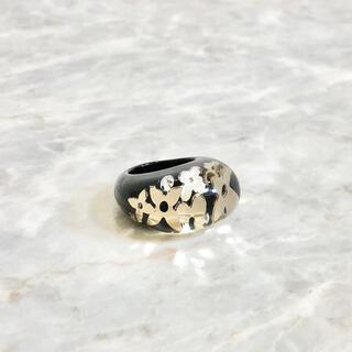 ルイヴィトン(LOUIS VUITTON)の正規品 ヴィトン 指輪 アンクルージョン クリア ブラック モノグラム リング(リング(指輪))