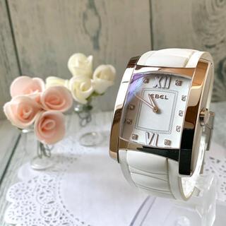 【美品】EBEL エベル 腕時計 ブラジリア 10P ダイヤ メンズ ラバー