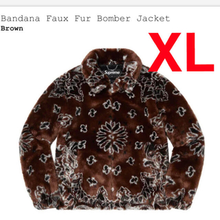 Supreme - bandana faux fur bomber jacket XL