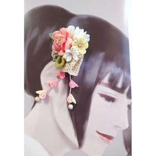 髪飾り コサージュ 2wayクリップ(ヘアアクセサリー)