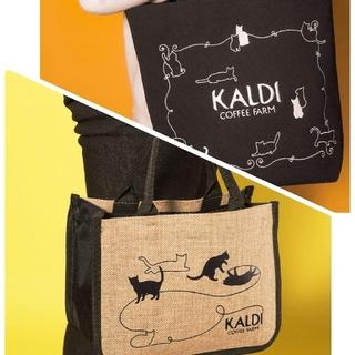 カルディ(KALDI)のカルディ 猫の日バッグ 2種 抜き取りなし(トートバッグ)