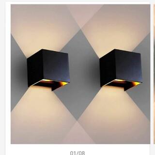【新品未使用2個セット】屋外使用可能 ブラケットライト 電球交換可能 ブラック(天井照明)