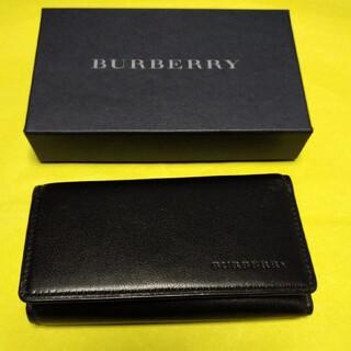 バーバリー(BURBERRY)のBURBERRY バーバリー 5連キーケース ブラック レザー(キーケース)