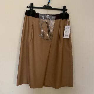 ジェイプレスレディス(J.PRESS LADIES)のJ.PRESS ジェイプレス スカート キャメル 未使用タグ付き オンワード樫山(ひざ丈スカート)