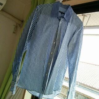 アバハウス(ABAHOUSE)のABAHOUSE  長袖ストライプブルー サイズ2(シャツ)