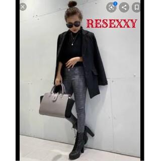 リゼクシー(RESEXXY)の半額以下◆美品RESEXXY グレンチェックストレッチスキニーパンツ(スキニーパンツ)