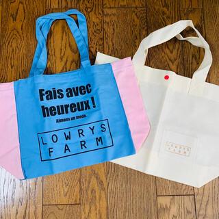 LOWRYS FARM - 【未使用】LOWRYSFARM トートバッグ ショップ袋 2点セット