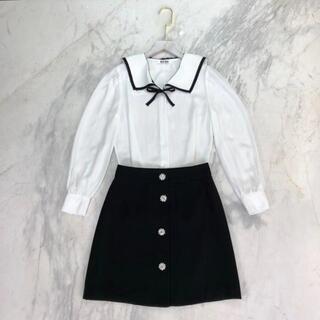 miumiu - ミュウミュウ★ miumiu シャツ×ミニスカート 上下2点セット