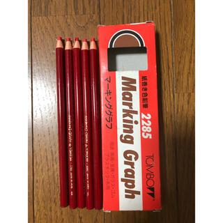 トンボエンピツ(トンボ鉛筆)のトンボ鉛筆  紙巻鉛筆 マーキンググラフ 赤 5本(色鉛筆)