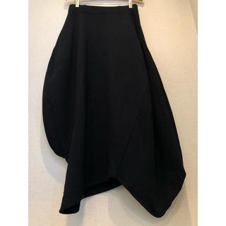 ENFOLD - nagonstans ドレープ スカート ブラック