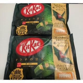 Nestle - ラスト1点! キットカット ミニ 濃い抹茶 12枚 2袋 セットチョコ 未開封