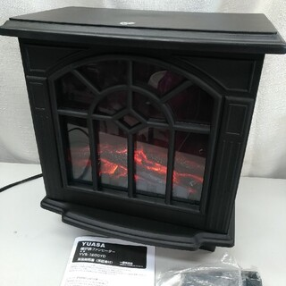2107 暖炉型ファンヒーター黒 電気